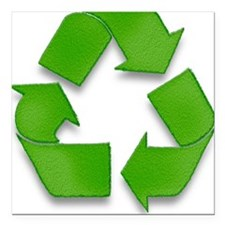 """Recycling sign Square Car Magnet 3"""" x 3"""""""