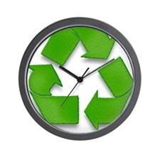 Recycling sign Wall Clock