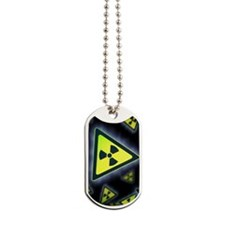 Radiation warning signs, artwork Dog Tags