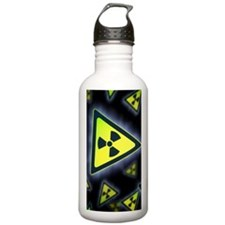 Radiation warning sign Sports Water Bottle