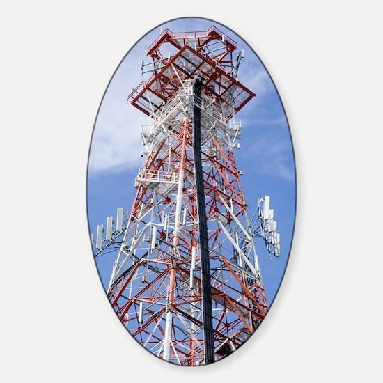 Radio transmitter mast Sticker (Oval)