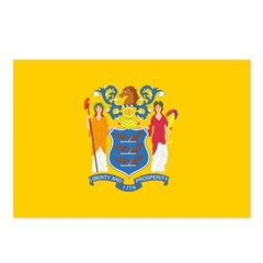 New Jersey Flag Postcards (Package of 8)