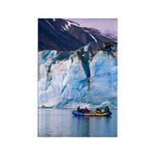 Rafting on Lowell lake, Canada Rectangle Magnet