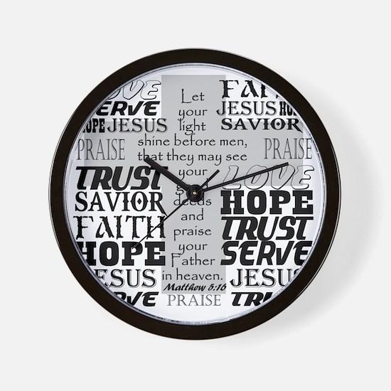 Matthew 5:16 Wall Clock