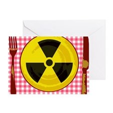 Radiation in food, conceptual image Greeting Card