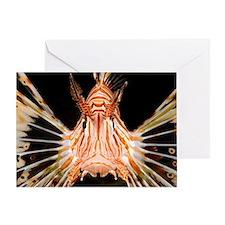 Radial lionfish Greeting Card