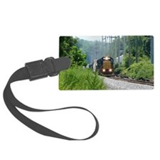Freight Train on single track Luggage Tag