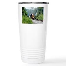 Freight Train on single track Thermos Mug