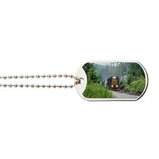 Freight Train on single track Dog Tags