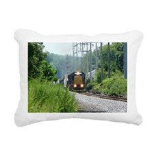 Freight Train on single  Rectangular Canvas Pillow