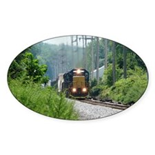 Freight Train on single track Decal