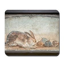 Rabbit and figs, Roman fresco Mousepad