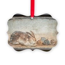 Rabbit and figs, Roman fresco Ornament