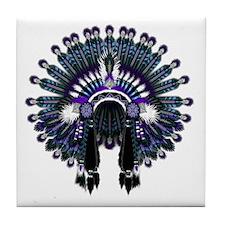 Native War Bonnet 04 Tile Coaster