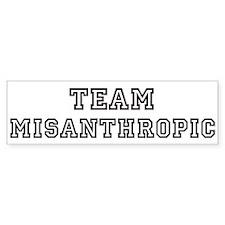 Team MISANTHROPIC Bumper Bumper Bumper Sticker