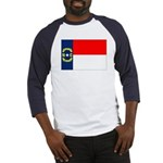 North Carolina Flag Baseball Jersey
