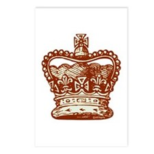 Royal Crown, brown Postcards (Package of 8)