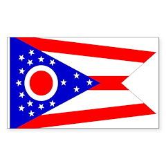Ohio Flag Rectangle Decal