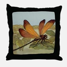 Art Deco Dragonfly Throw Pillow
