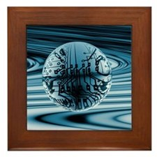 Quantum computing Framed Tile