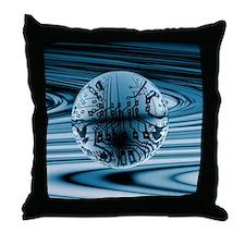 Quantum computing Throw Pillow