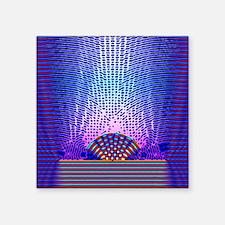 "Quantum resonance Square Sticker 3"" x 3"""