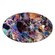 Pyroxenite rock, light micrograph Decal