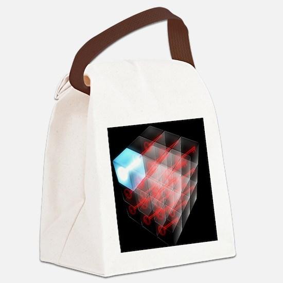 Quantum encryption, computer artw Canvas Lunch Bag