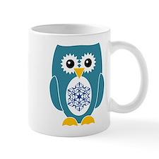 Blue Owl With Snowflake Mug