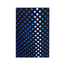 Punched holes in aluminium sheet Rectangle Magnet
