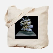 Protein structure and electron density Tote Bag