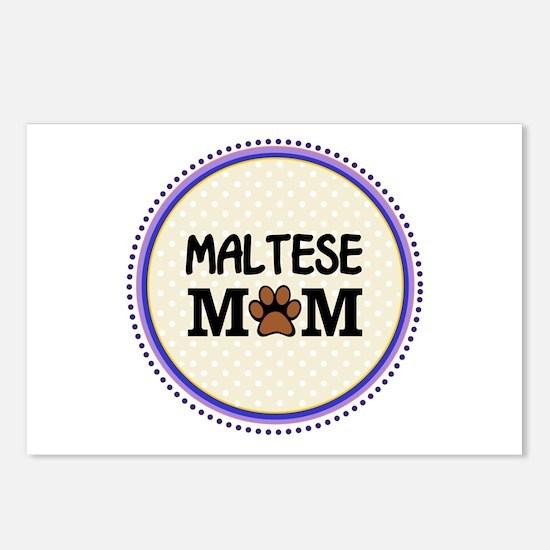 Maltese Dog Mom Postcards (Package of 8)