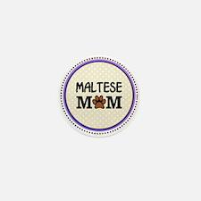 Maltese Dog Mom Mini Button