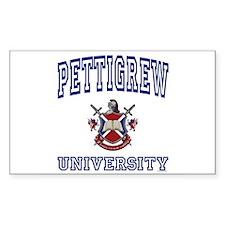 PETTIGREW University Rectangle Decal