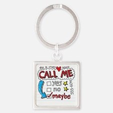 Call Me Square Keychain