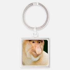 Proboscis monkey Square Keychain