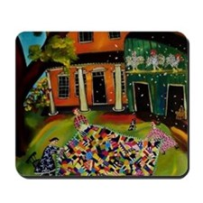 Fluffing Like Crazy Quilt Mousepad