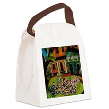 Fluffing Like Crazy Quilt Canvas Lunch Bag