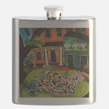 Fluffing Like Crazy Quilt Flask