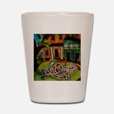 Fluffing Like Crazy Quilt Shot Glass