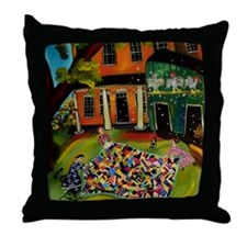 Fluffing Like Crazy Quilt Throw Pillow