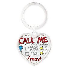 Call Me Heart Keychain