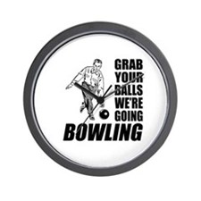 Grab Your Balls Bowling Wall Clock