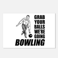 Grab Your Balls Bowling Postcards (Package of 8)
