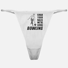Grab Your Balls Bowling Classic Thong