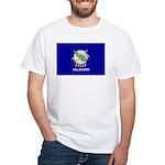 Oklahoma Flag White T-Shirt
