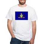 Pennsylvania Flag White T-Shirt