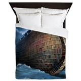 Book ship Queen Duvet Covers