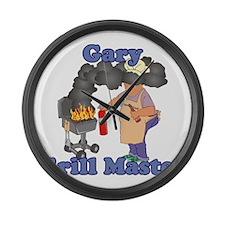 Grill Master Gary Large Wall Clock