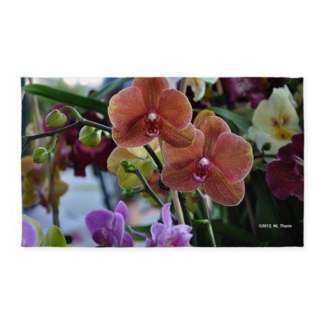 Mixed Orchids 3'x5' Area Rug